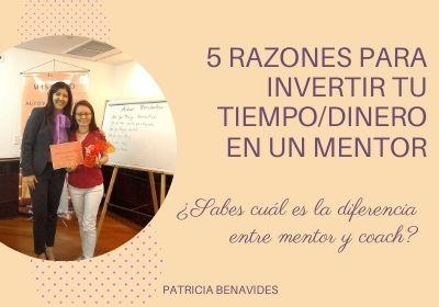 5 razones para invertir tiempo/dinero en un mentor